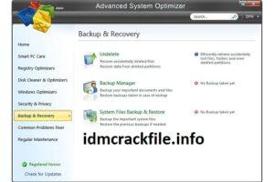Advanced System Optimizer 3.9.3700.18392 Crack + Serial Key Full Download