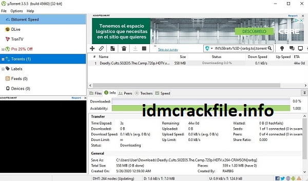 uTorrent Pro 3.5.5.46020 Crack + Key 2021 Free [Latest]