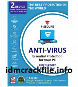 F-Secure Antivirus Crack 2021 With Serial Key Free Download